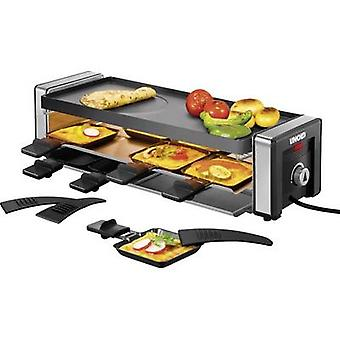 Unold Delice Raclette with hot stone, with manual temperature settings Black/silver
