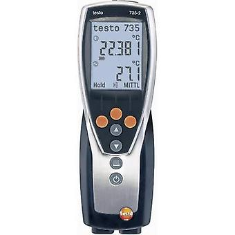 testo 735-2 ميزان الحرارة -200 تصل إلى +1370 درجة مئوية استشعار نوع K، Pt100