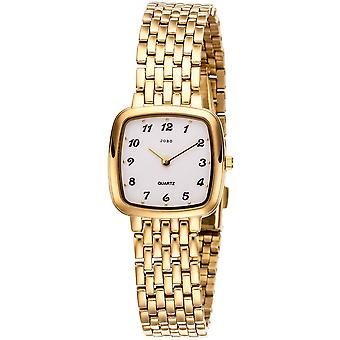 المرأة ساعة الارتغزز الكوارتز القياسى الفولاذ المقاوم للصدأ مطلي المرأة ووتش