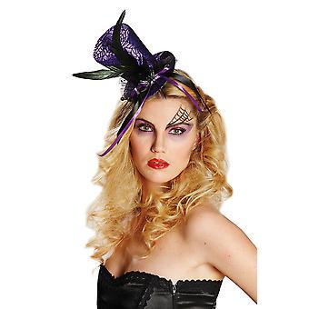 Halloween Zylinder Spinnennetz Haarclip