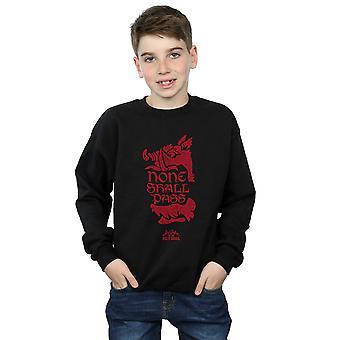 Monty Python ragazzi None Shall Pass Sweatshirt