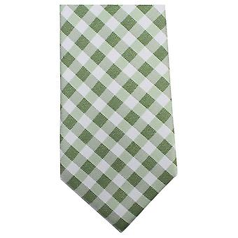 Knightsbridge Neckwear vérifié Tie - vert/blanc