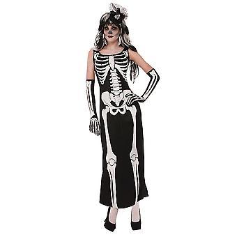 Bnov scheletro Costume Abito lungo (Robe)