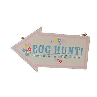 Easter Decoration- Egg Hunt Arrow Sign by Gisela Graham