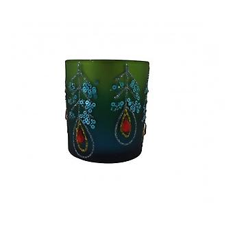Gisela Graham Peacock Inspired Tea Light Holder