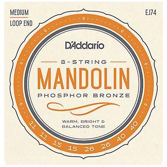 D'Addario Phosphor Bronze Medium Mandolin Strings