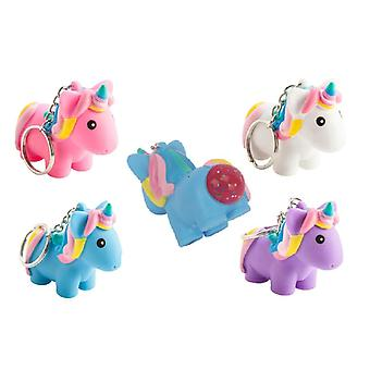 Unicorn Keychain baiting Unicorn clamp toy Squeeze Slime 1pc