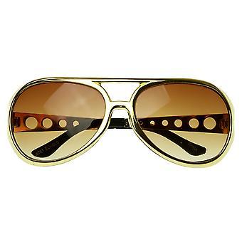 Grote Elvis koning van Rock Rock & Roll TCB Aviator zonnebril
