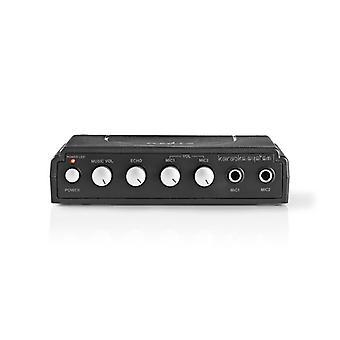 Nedis MIXK050BK Karaokemixerset + 2 Microfoons Zwart