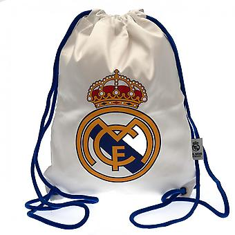 Real Madrid FC Drawstring Gym Bag With Zip Pocket