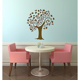 Curly Tree Wall Art Vinyl Wall Sticker