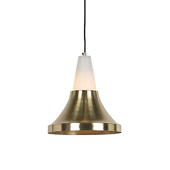 QAZQA pendentif moderne lampe en laiton avec marbre - Albasta A