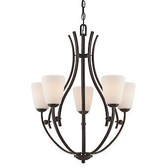 Chantilly Five Light Chandelier - Elstead Lighting Qz / QZ/CHANTILLY5