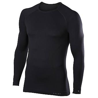 Falke-Maximum warme Behaglichkeit Langarm-Shirt - schwarz