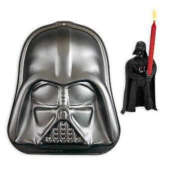 Star Wars bundle incl. Torta bollente Kit Darth Vader candele torta Pan in acciaio al carbonio rivestito in Teflon e candela di Star-Wars.