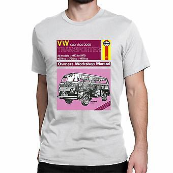 Officiële Haynes handmatige T-shirt Unisex VW Transporter Alle modellen 72 tot en met 79