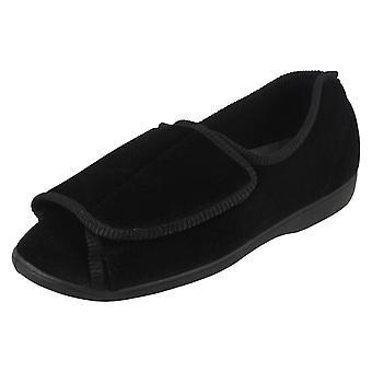 Ladies Tender Tootsies Velcro Cross Over Slipper Boots Style 204999