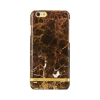 Richmond & Finch shells voor iPhone 6 plus/6s plus-bruin marmer