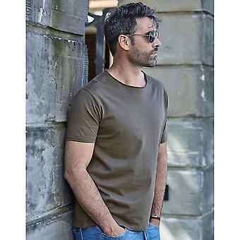 Tee Jays Mens rå kant kortärmad T-Shirt