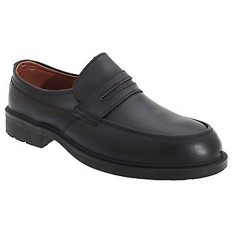 Grafters Mens Managers Saddle Casual Coated Leather Safety Shoes