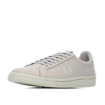 Fred Perry Men's Checkerboard Nubuck Leather Trainers B1201-254