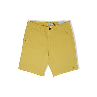Farah Hawk Garment Dyed Shorts (Acid Yellow)