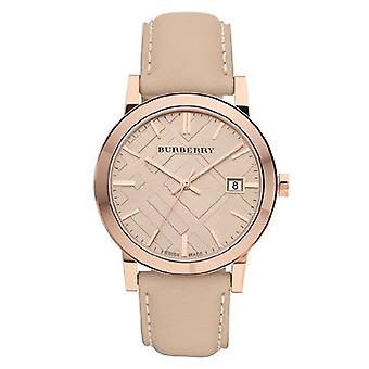 Burberry Bu9014 Ladies Beige Leather Strap Watch