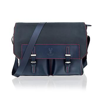 "Navy 14.0"" Messenger Bag Multi Pockets"