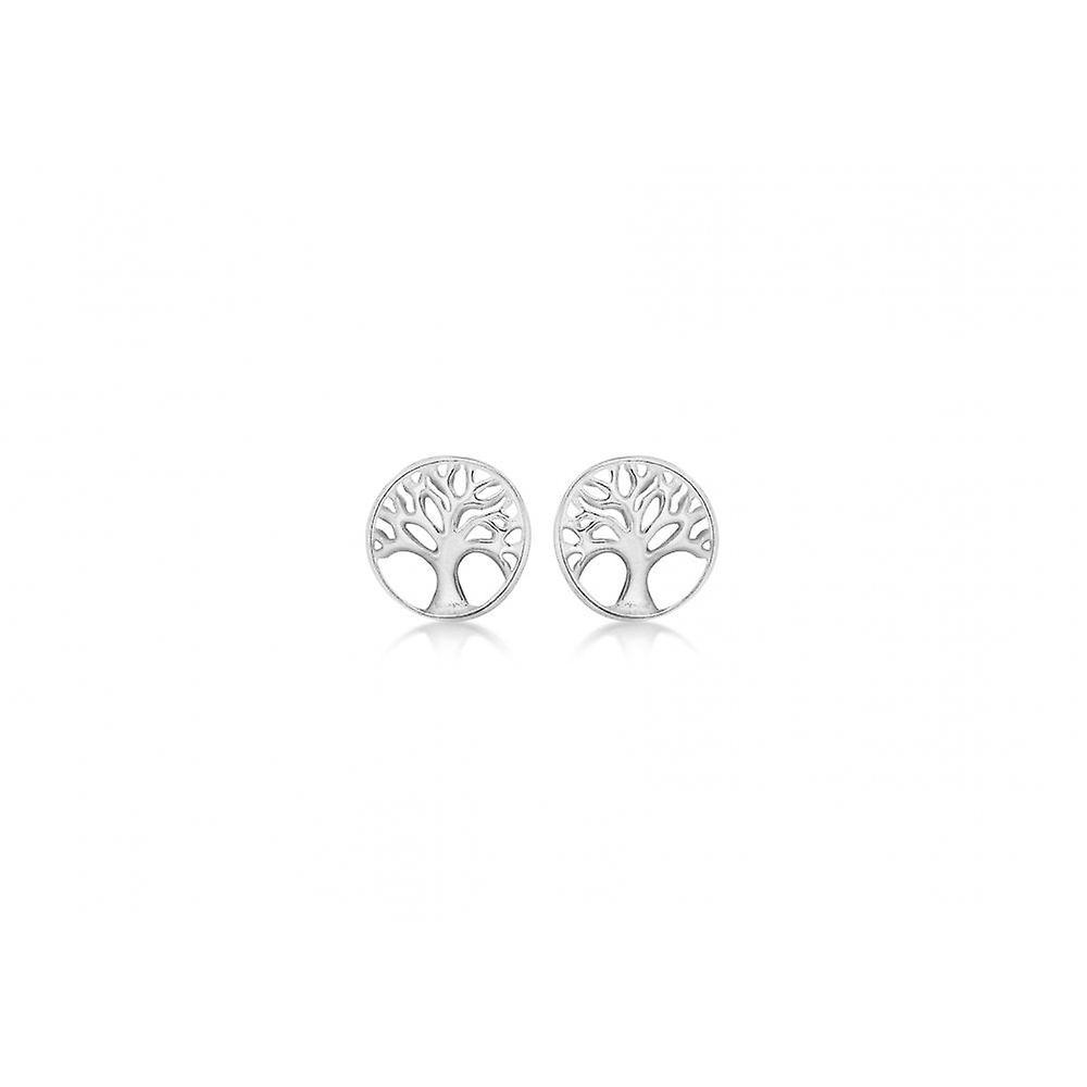 Eternity Sterling Silver Small Tree Of Life Stud Earrings