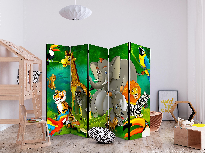 Paravent 5 volets - Colourful Safari II [Room Dividers]