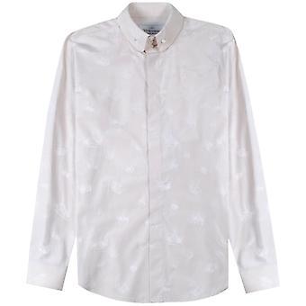 Vivienne Westwood kroon patroon shirt Cream
