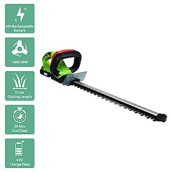 Charles Bentley 18V draagbare draadloze hedge trimmer Strimmer Cutter-groen