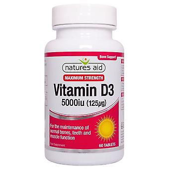 Nature's Aid Vitamin D3 5000iu (125ug) High Strength Tablets 60 (135920)