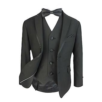 Boys Exclusive Black Tuxedo Dinner Suit Sets by Romano