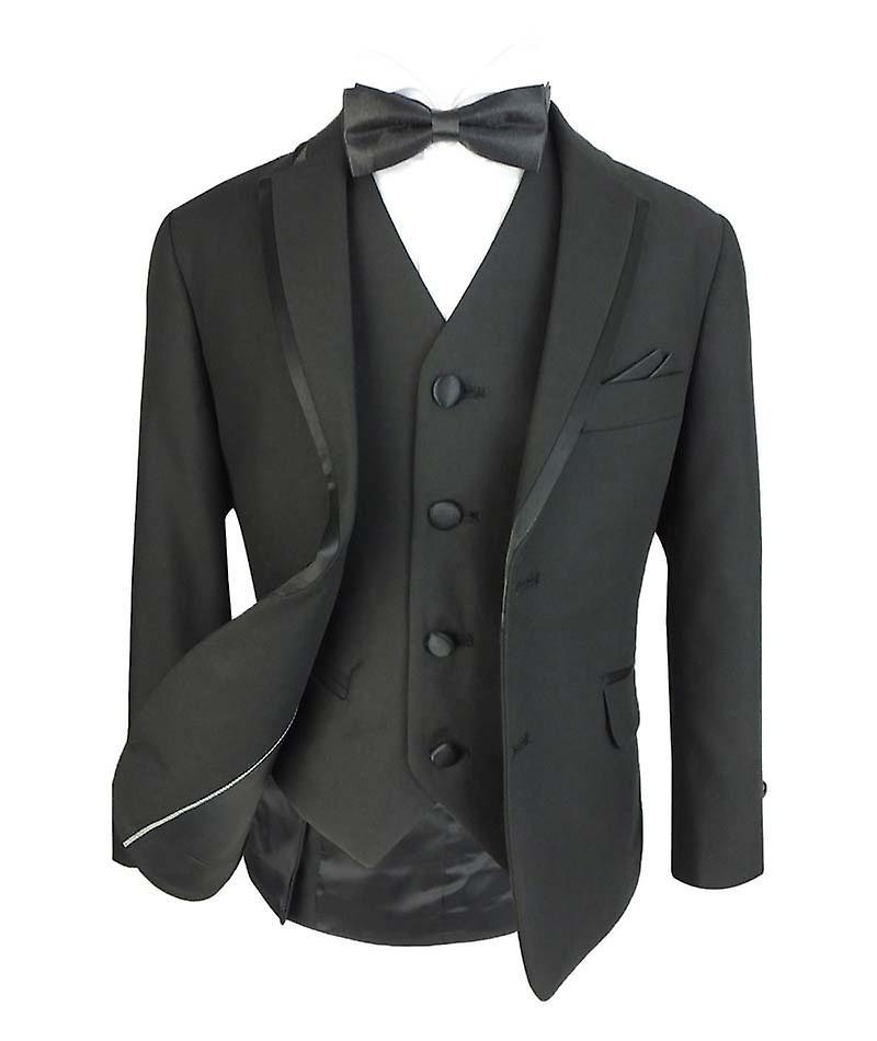 Pojkar exklusiv svart smoking middag kostym uppsättningar av Romano