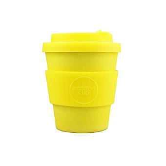 Ecoffee ympäristöystävällinen 8oz 240ml uudelleenkäytettäviä luonnon bambu kuitua teetä & kahvi kupit silikonilla kannen alkuun matkustaa & kotiin-eri värejä