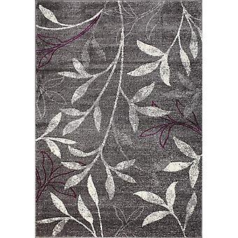 Design tapijt van de hoogste kwaliteit donkergrijs/licht paars