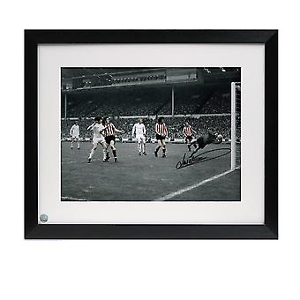 Jim Montgomery Signed Photo: 1973 FA Cup Final Wonder Save. Framed