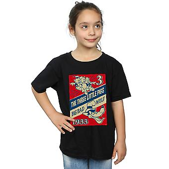 Disney Girls Three Little Pigs And The Big Bad Wolf T-Shirt