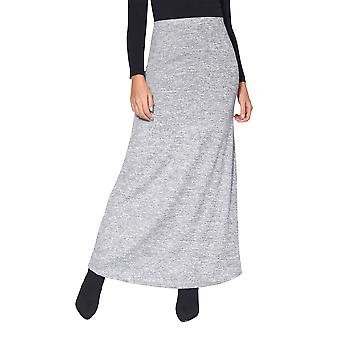KRISP السيدات النساء محبوك عاليه الخصر Bodycon طويلة خط الشتاء بوهو ماكسي تنوره اللباس