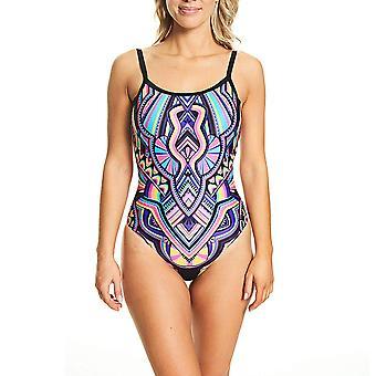 Zoggs Dream Catcher ontworpen Deep Scoopback Multi Color Fashion badpak