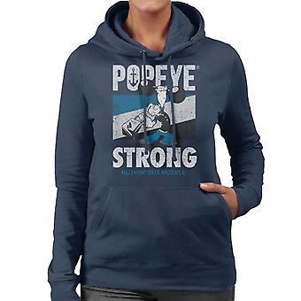 Popeye Barbell Nuthin But Muskle Women's Hooded Sweatshirt