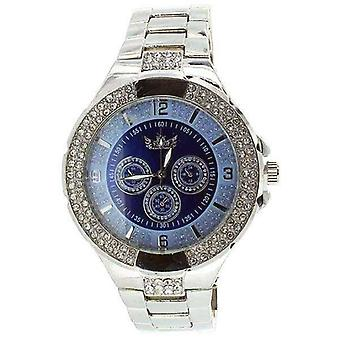 Klocka Bling All Chronograph Blueface Platinum