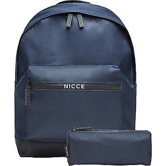 NICCE Andel Backpack Bag And Pencil Case Set Blue 02