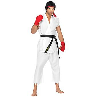 Ryu Japanese Capcom's Street Fighter Martial Art Video Game Mens Costume