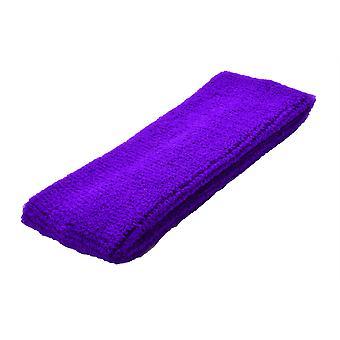 Plain Purple Towelling Headband