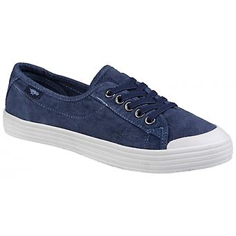 Rocket Dog Chow Chow Rye Ladies Cotton Casual Trainers Navy