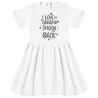 I Love My Grandma To The Moon And Back Baby Dress