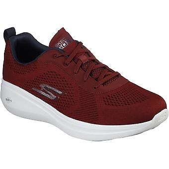 Skechers Mens Go Run Fast Athletic Engineered Mesh Lace Up Trainer
