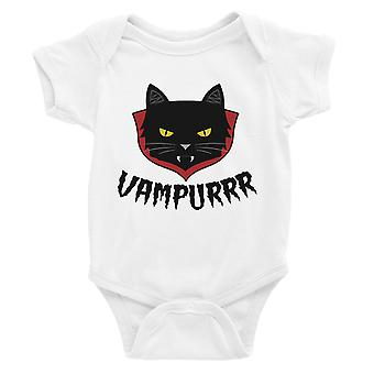 Vampurrr lustige Halloween süße Grafik-Design Baby Body Geschenk weiß